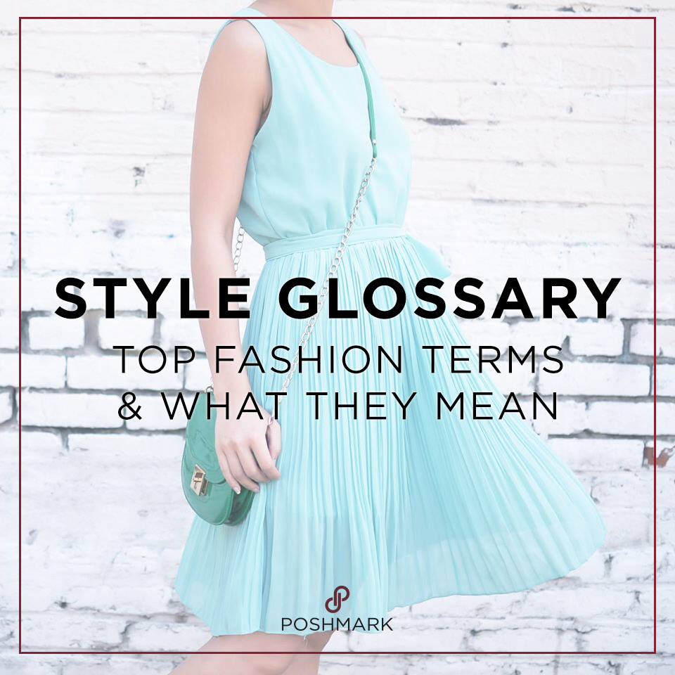 dress style glossary creation
