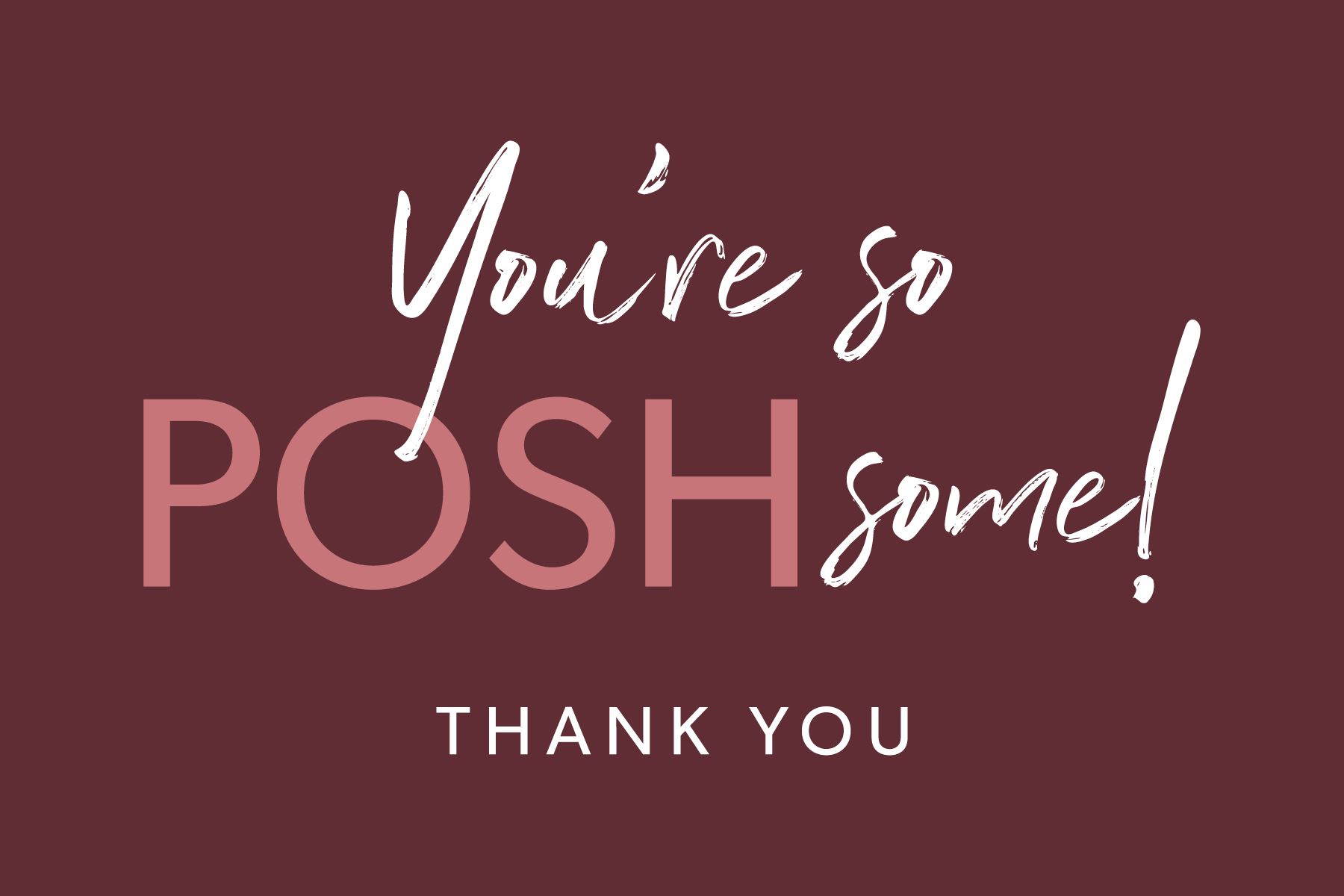 Contest Alert Design The Next Poshmark Thank You Card