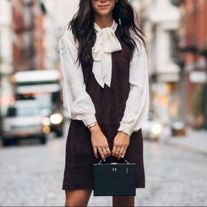 Brown-Suede-Dress
