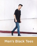 Men's Black Tees