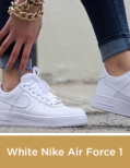 White Nike Air Force 1 Shoes