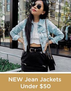 New Jean Jackets Under 50