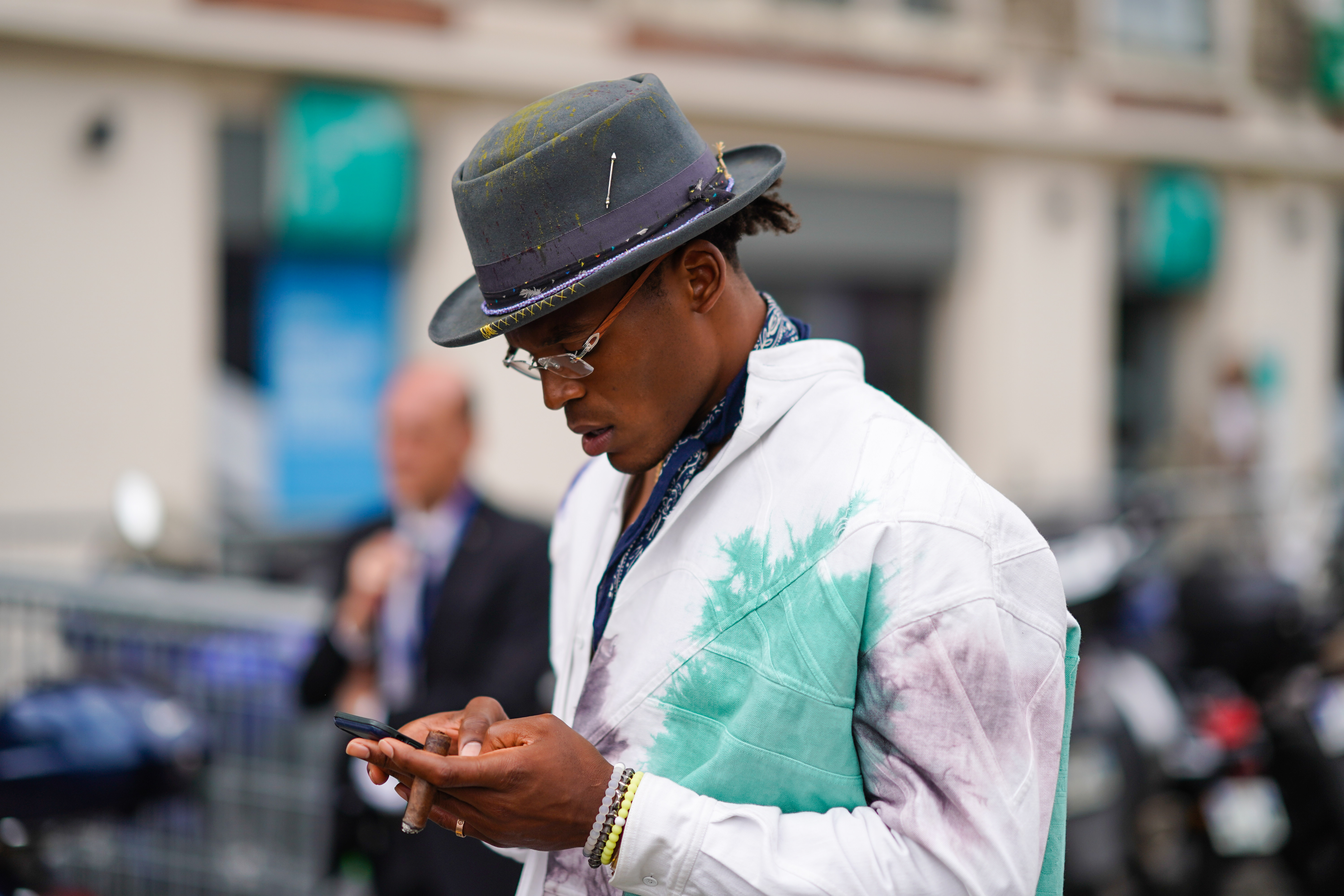 Street Style : Paris Fashion Week - Menswear Spring/Summer 2020 : Day Three